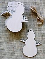 Gravure au laser tranche en bois 3mm artisanat en bois meubles en bois de Noël ornements en sapin de Noël petits ornements