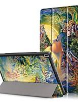 Tampa da capa de impressão para Lenovo Tab4 guia 4 10 x304f tb-x304f tab4-x304n tb4-x304 com protetor de tela