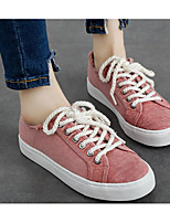 Women's Sneakers Comfort Spring Canvas Casual White Black Gray Green Blushing Pink Flat