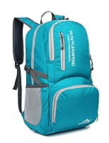 Unisex Sports & Leisure Bag Nylon All Seasons Sports Outdoor Climbing Weekend Bag Zipper Clover Sky Blue Orange Black Blue 30-40