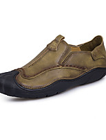 Men's Loafers & Slip-Ons Comfort Microfibre Spring Fall Casual Outdoor Flat Heel Khaki Light Brown Flat