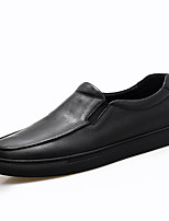 Men's Loafers & Slip-Ons Comfort Nappa Leather Spring Fall Casual Outdoor Office & Career Party & Evening Gore Black Flat