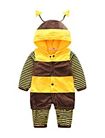 Baby Stripes Animal Print One-Pieces,Polyster Spring Fall/Autumn Long Sleeve