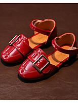 Девочки На плокой подошве Удобная обувь Весна Осень Полиуретан Повседневные Черный Военно-зеленный Красный На плоской подошве
