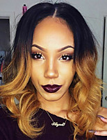 Ombre T1B/27 Brazilian Virgin Hair Lace Wigs Loose Wave Lace Front Human Hair Wigs with Baby Hair Virgin Remy Hair Wig 130% Density
