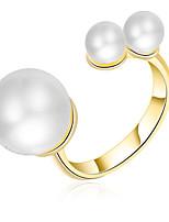 Per donna Anelli per coppie Anelli midi Fedine Perle finte Classico Elegant Di tendenza Personalizzato stile sveglio Gioielli di Lusso