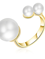 Cuff Ring Settings Ring Band Ring  Luxury Women's Euramerican Fashion Pearl Style Ring Birthday Wedding Anniversary Movie Gift Jewelry