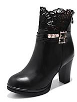 Для женщин Ботинки Босоножки Модная обувь Дерматин Осень Зима Свадьба Повседневные Для праздника Для вечеринки / ужина На толстом каблуке