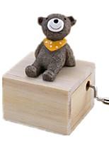 Music Box Toys Carousel Bear Animals Unisex Pieces