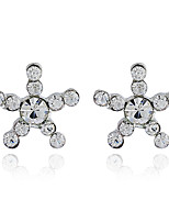 Women's Stud Earrings Basic Hypoallergenic Classic Rhinestone Alloy Jewelry For Party Gift Daily Evening Party Date
