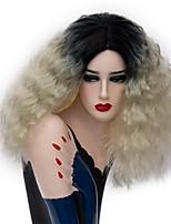 Perruques naturelles Synthétique Sans bonnet Perruques Moyen Blond Cheveux