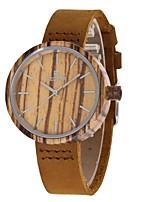 Жен. Модные часы Часы Дерево Японский Кварцевый деревянный Натуральная кожа Группа С подвесками Повседневная Коричневый
