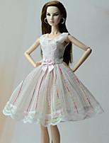Corte Princesa Vestidos Vestidos por Muñeca Barbie  Vestidos por Chica de muñeca de juguete