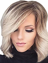 Short Ombre Blonde Bob Hair Wig Heat Resistant Synthetic Wigs For Black White Women Wigs