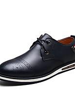 Для мужчин обувь Натуральная кожа Кожа Полиуретан Осень Зима Удобная обувь Мокасины Светодиодные подошвы Формальная обувь Обувь для
