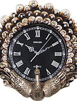 Модерн Традиционный Деревенский Повседневный Ретро Животные Настенные часы,Круглый Часы Резина В помещении Часы