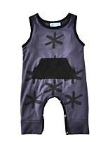 Baby Romper Print One-Pieces Cotton Summer Sleeveless Boys Jumpsuits Kids Bodysuits