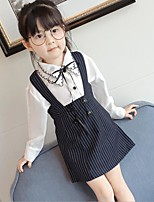 Girls' Casual/Daily Solid Sets,Cotton Rayon Summer Sleeveless Clothing Set
