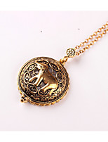 Women's Pendant Necklaces Elephant Alloy Animal Design Metallic Vintage Jewelry For Wedding Party Birthday Graduation Gift Daily