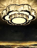 Llevó la luz cristalina absorben la luz de la bóveda luz del dormitorio creativa flor dulce romance circular pasillo lámpara porche balcón