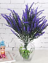 1 Une succursale Plastique Plantes Lavande Fleur de Table Fleurs artificielles