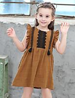 Vestido Chica de Retazos Algodón Sin Mangas Verano