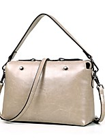 Women Bags All Seasons Cowhide Shoulder Bag with Smooth Metal Chain Seamless Zipper for Wedding Event/Party Casual Formal Office & Career