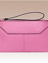 Women Checkbook Wallet Cowhide All Seasons Round Zipper Blushing Pink
