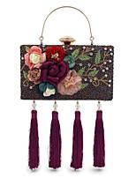 L.WEST Women's fashion handmade beaded set auger dinner bag heavy tassels hand bag