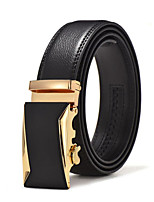 Leather Belt Two-Layer Leather Man Automatically Deducted Belt Leather Business
