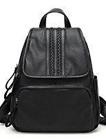 Women Backpack PU All Seasons Casual Saddle Zipper Black