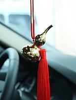 Diy pendentifs automobiles pendentifs voiture ornements dorés ornements ornements bijoux intérieurs glands chinois modèles de luxe