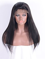 100% Unprocessed Brazilian Human Hair Wig Fashion Natural Black Long Straight Lace Front Wigs with Baby Hair 16-26 Inches 130% Density for Women