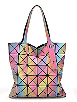 Women Bags All Seasons PU Tote with for Casual Rainbow