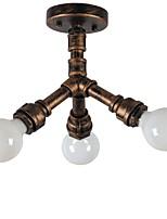3 lámpara de araña característica contemporánea de la pintura para el estilo de la vela metal sala de estar dormitorio comedor