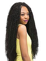 Afro Kinky плетенки Косы в технике Кроше Афро Кудри Джерри Керл Кудрявое плетение 100% волосы канеколон Средний Golden Brown Клубничный