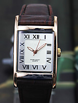Men's Fashion Watch Quartz Alloy Leather Band Black Silver Brown