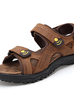 Men's Sandals Comfort Nappa Leather Summer Fall Casual Outdoor Dress Upstream shoes Dark Brown Under 1in