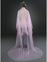 Wedding Veil Two-tier Cathedral Veils Cut Edge Tulle
