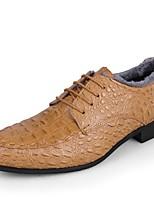 Masculino Oxford Botas de Neve Sapatos formais Sapatos de mergulho Forro de fluff Inverno Pele Real Pele Casamento Casual Festas & Noite