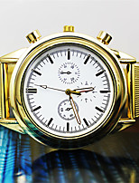 Hombre Mujer Reloj de Moda Cuarzo Aleación Banda Dorado