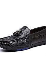 Для мужчин Мокасины и Свитер Удобная обувь Светодиодные подошвы Искусственное волокно Весна ОсеньСвадьба Атлетический Повседневные Для