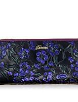 Women Checkbook Wallet Cowhide All Seasons Daily Casual Rectangle Zipper Green Purple Black