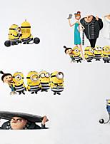 Животные Мультипликация Мода Наклейки Простые наклейки Декоративные наклейки на стены материал Украшение дома Наклейка на стену