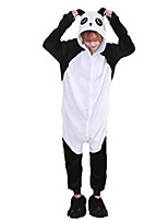 Kigurumi Pajamas Panda Leotard/Onesie Shoes Festival/Holiday Animal Sleepwear Halloween Fashion Embroidered Flannel Fabric Cosplay With Shoes