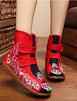 Women's Boots Comfort Canvas Fall Casual Comfort Ruby Black Flat