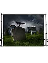 Vinyl Photo Backdrop Child Studio Halloween horror Photography Background Baby 5x7FT