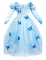 Girl's Cinderella Princess SkirtButterfly V Collar Gauze Dress