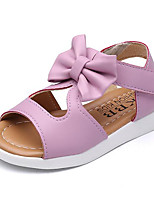 Girls' Sandals Comfort Summer PU Casual Blushing Pink Purple White Flat