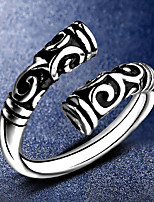 Women's Men's Cuff Ring Jewelry Punk Silver Plated Twist Circle Jewelry For Casual Office & Career Street